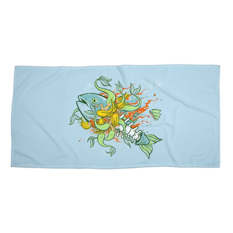 Feeding Frenzy Accessories Beach Towel by thunderpeel