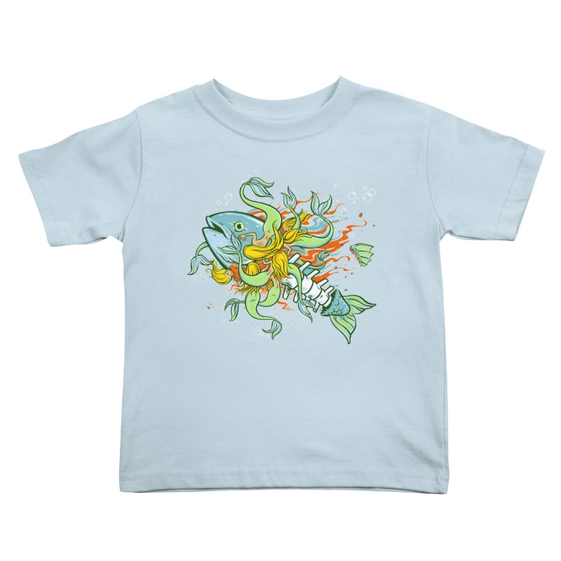 Feeding Frenzy Kids Toddler T-Shirt by thunderpeel