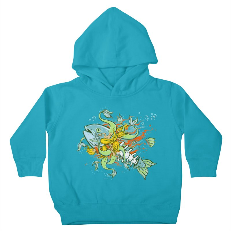Feeding Frenzy Kids Toddler Pullover Hoody by thunderpeel