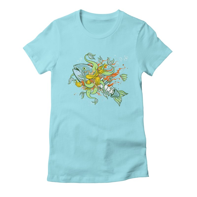 Feeding Frenzy Women's Fitted T-Shirt by thunderpeel