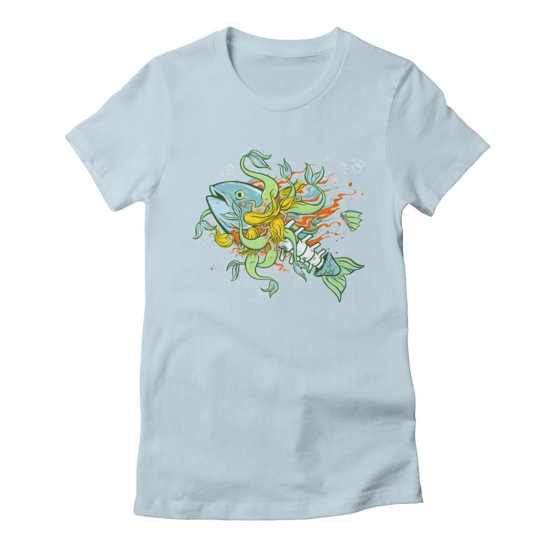 Feeding Frenzy Women's T-Shirt by thunderpeel