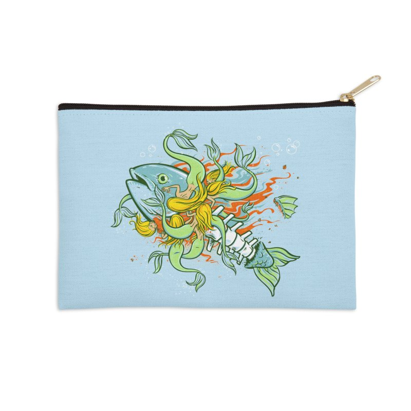 Feeding Frenzy Accessories Zip Pouch by thunderpeel