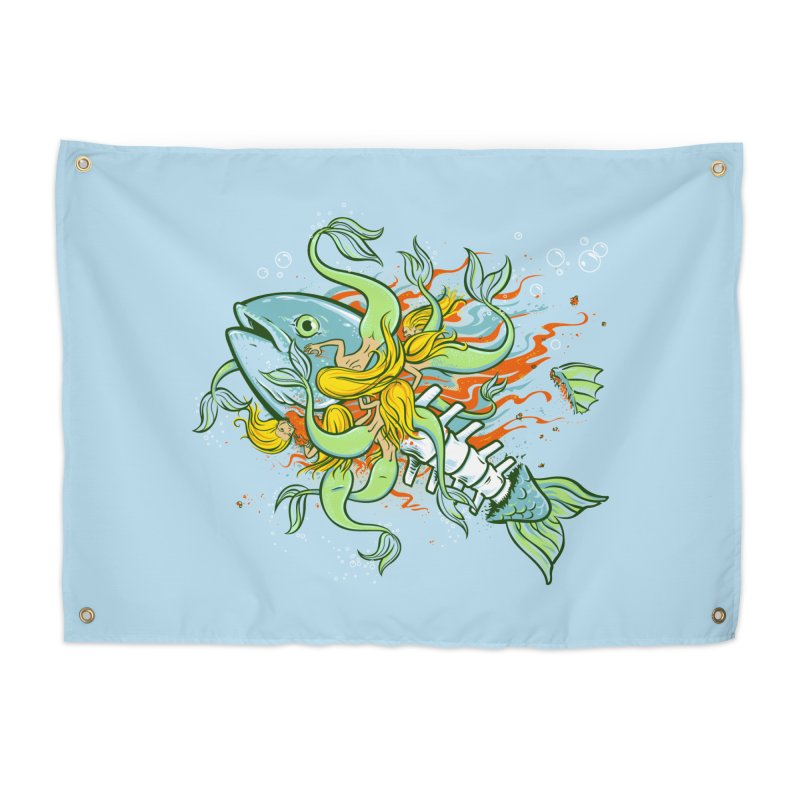 Feeding Frenzy Home Tapestry by thunderpeel
