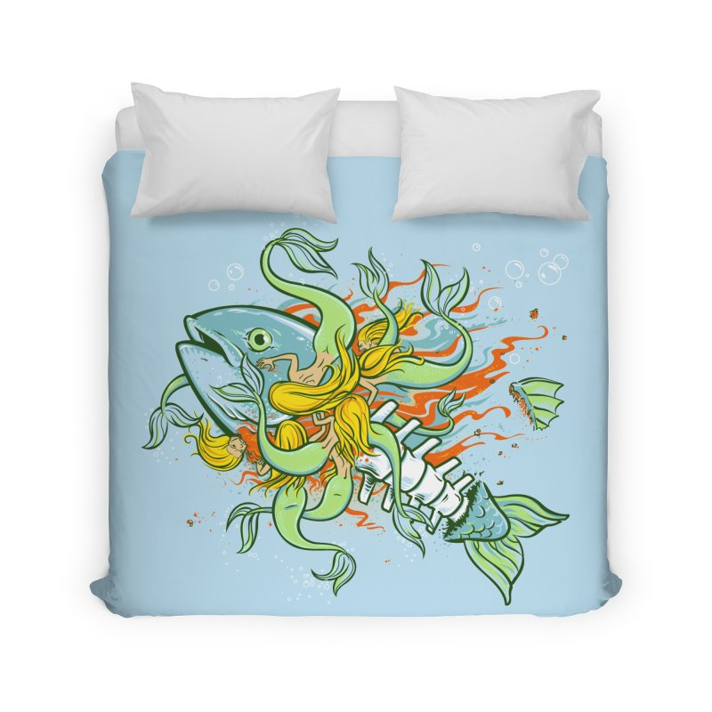 Feeding Frenzy Home Duvet by thunderpeel