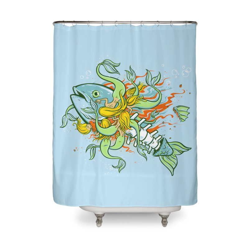 Feeding Frenzy Home Shower Curtain by thunderpeel