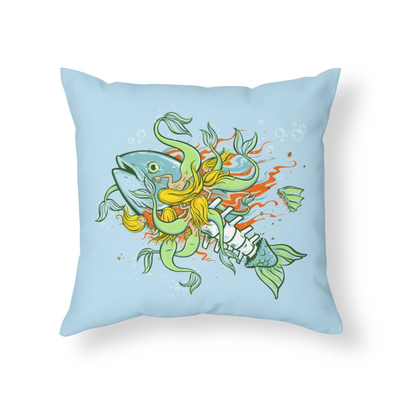 Feeding Frenzy Home Throw Pillow by thunderpeel