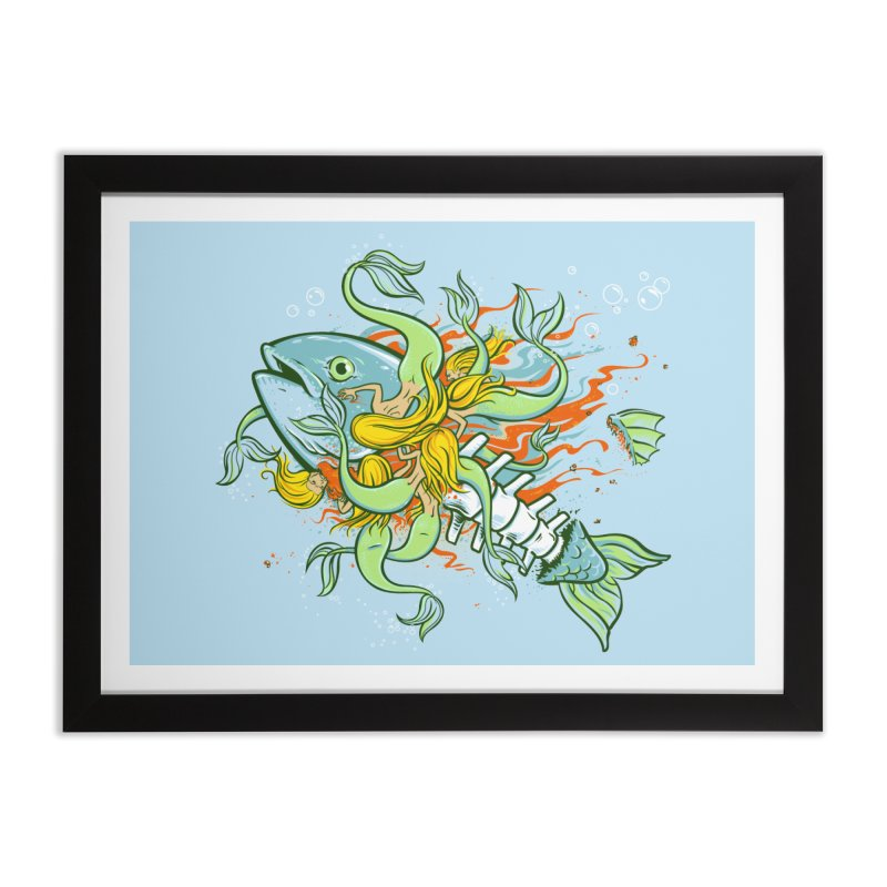 Feeding Frenzy Home Framed Fine Art Print by thunderpeel