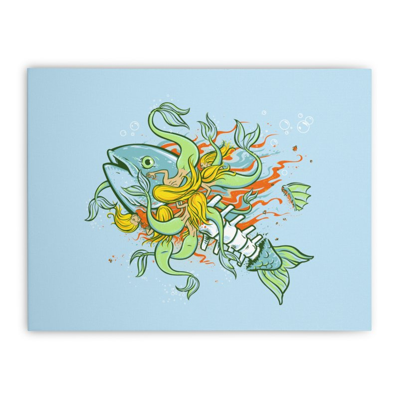 Feeding Frenzy Home Stretched Canvas by thunderpeel
