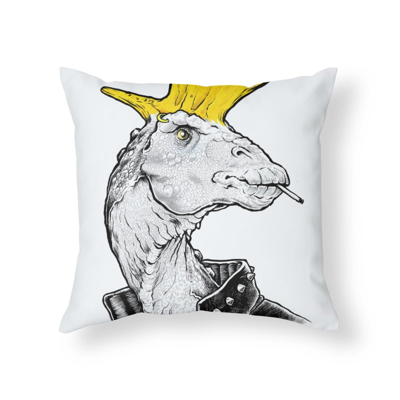 Paleopunk Home Throw Pillow by thunderpeel