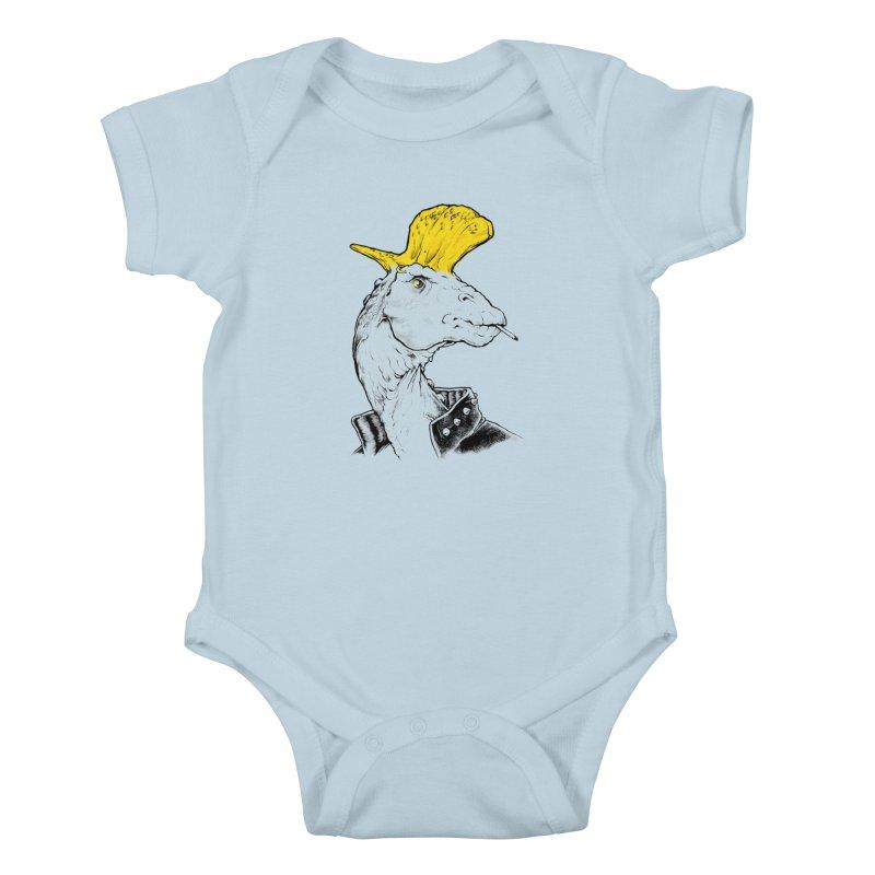 Paleopunk Kids Baby Bodysuit by thunderpeel
