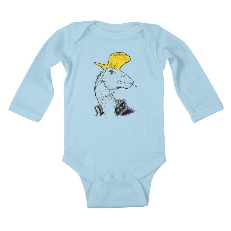 Paleopunk Kids Baby Longsleeve Bodysuit by thunderpeel
