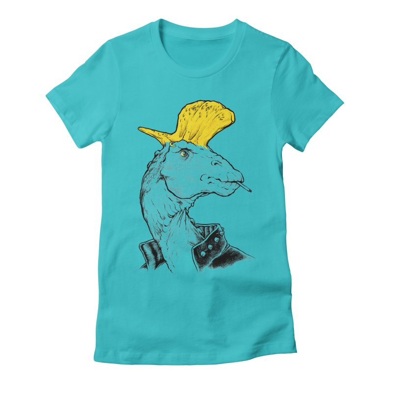 Paleopunk Women's Fitted T-Shirt by thunderpeel
