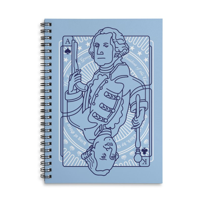 George vs George Accessories Lined Spiral Notebook by thunderpeel