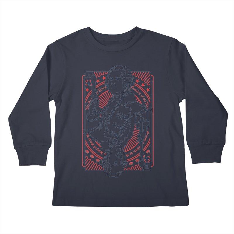 George v George Kids Longsleeve T-Shirt by thunderpeel
