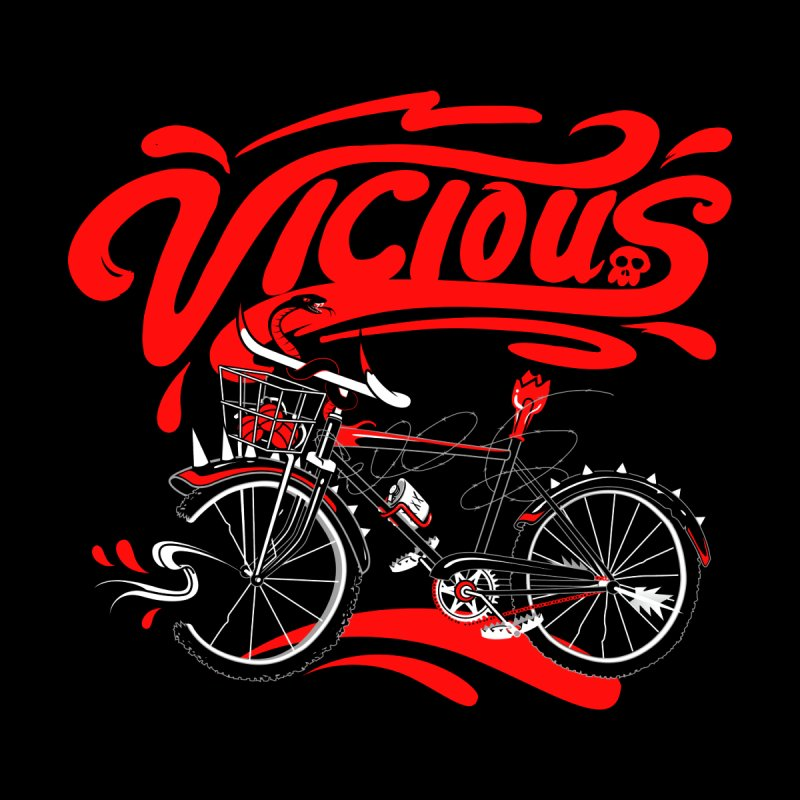 Vicious Cycle Women's V-Neck by thunderpeel