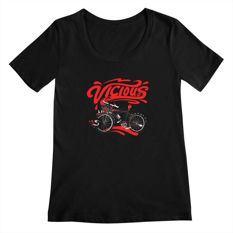 Vicious Cycle Women's Scoopneck by thunderpeel