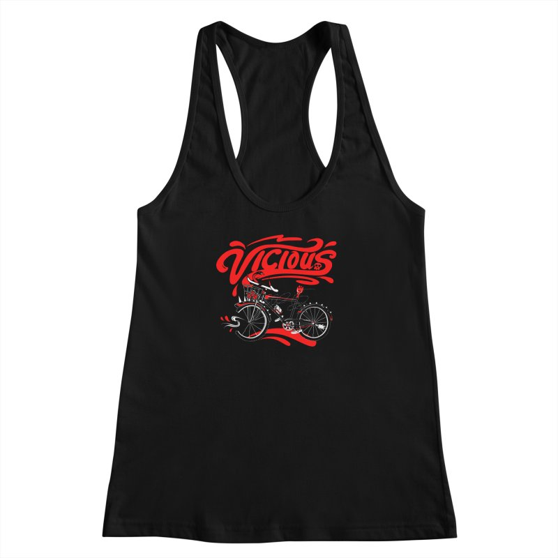 Vicious Cycle Women's Racerback Tank by thunderpeel