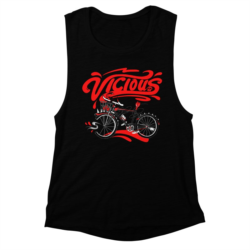 Vicious Cycle Women's Muscle Tank by thunderpeel
