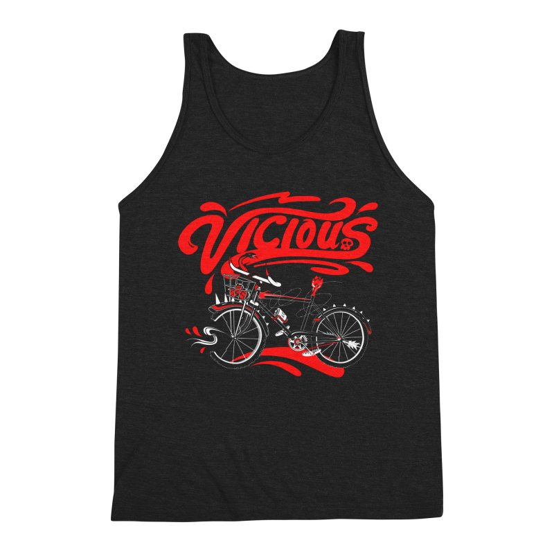 Vicious Cycle Men's Triblend Tank by thunderpeel