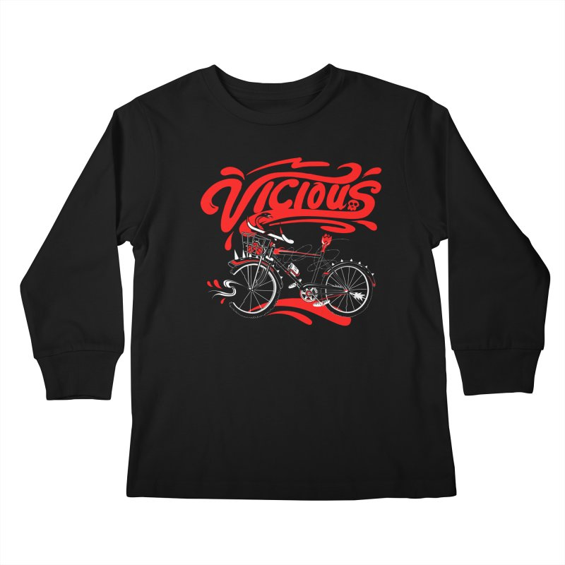 Vicious Cycle Kids Longsleeve T-Shirt by thunderpeel