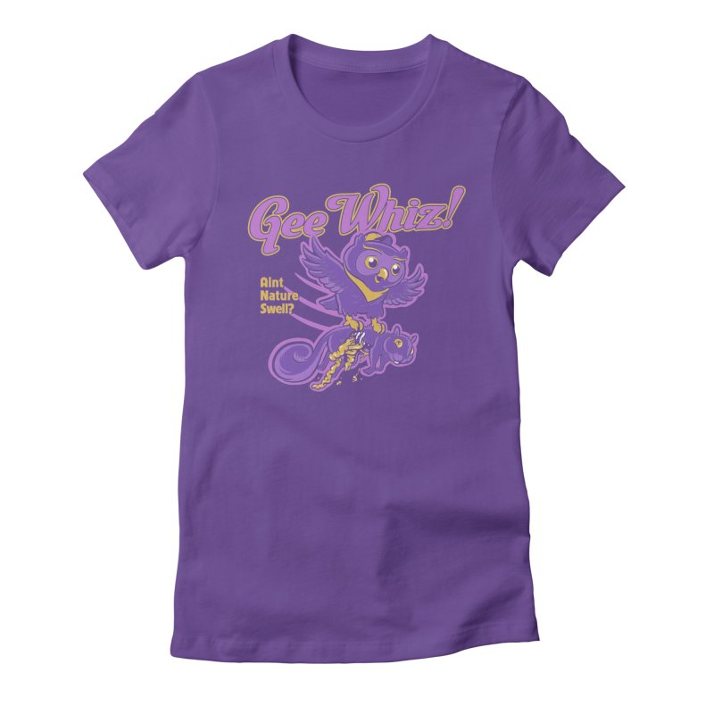 Gee Whiz Women's Fitted T-Shirt by thunderpeel