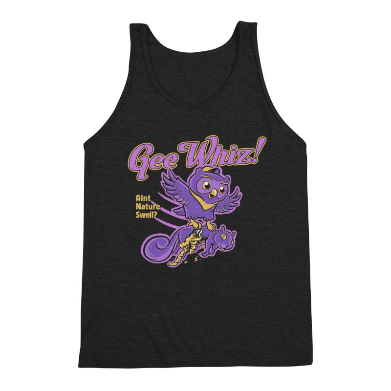 Gee Whiz Men's Triblend Tank by thunderpeel