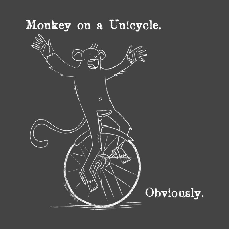 Monkey on a Unicyle. Men's T-Shirt by Walter Ostlie