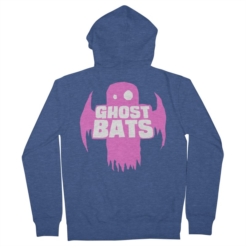 Ghost Bats Band Shirt Women's Zip-Up Hoody by Walter Ostlie