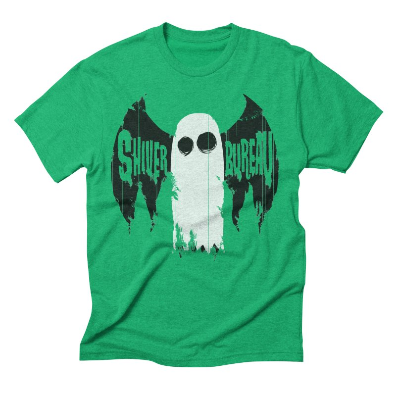 The Evil Ghost Bat Men's Triblend T-Shirt by Walter Ostlie