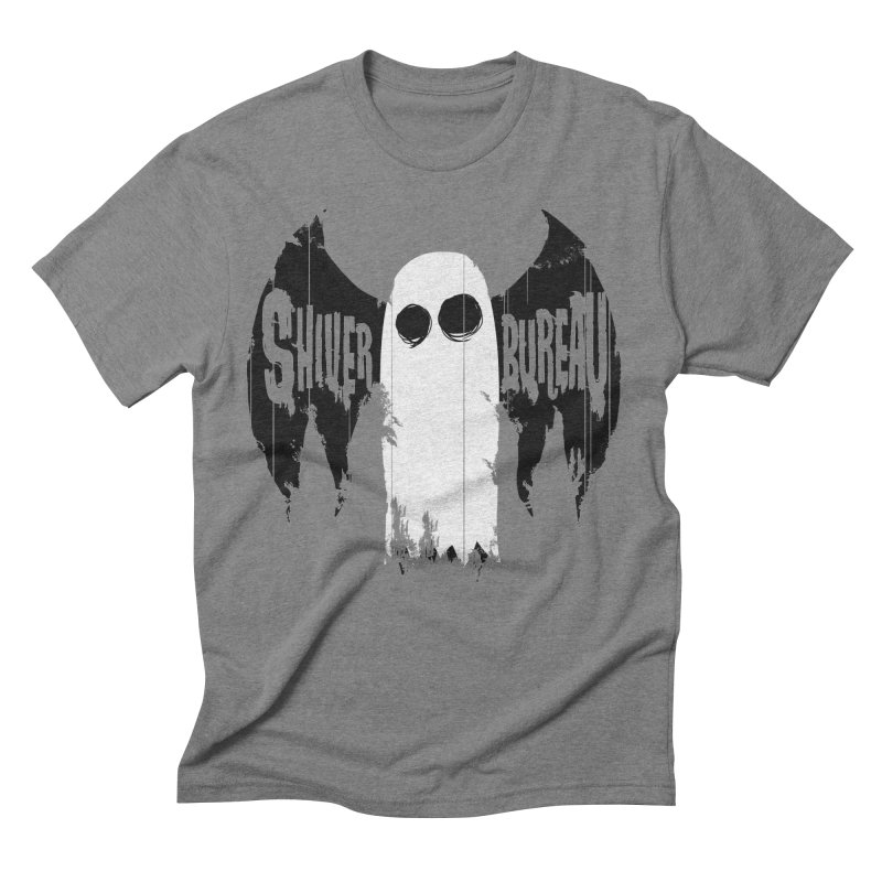 The Evil Ghost Bat in Men's Triblend T-Shirt Grey Triblend by Walter Ostlie