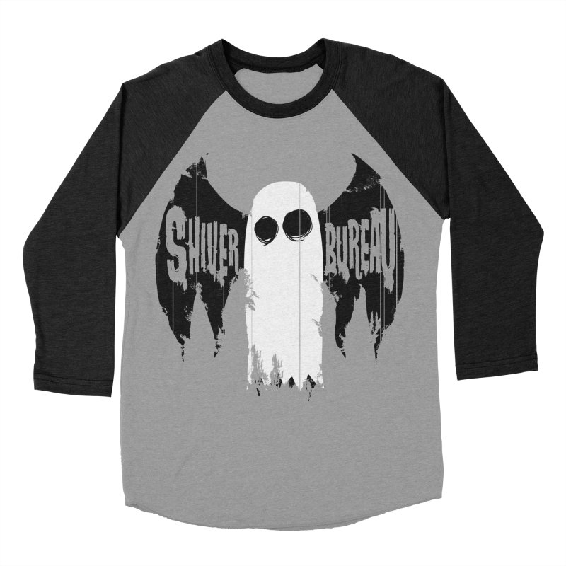 The Evil Ghost Bat Men's Baseball Triblend Longsleeve T-Shirt by Walter Ostlie