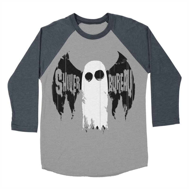 The Evil Ghost Bat Men's Baseball Triblend Longsleeve T-Shirt by Walter Ostlie