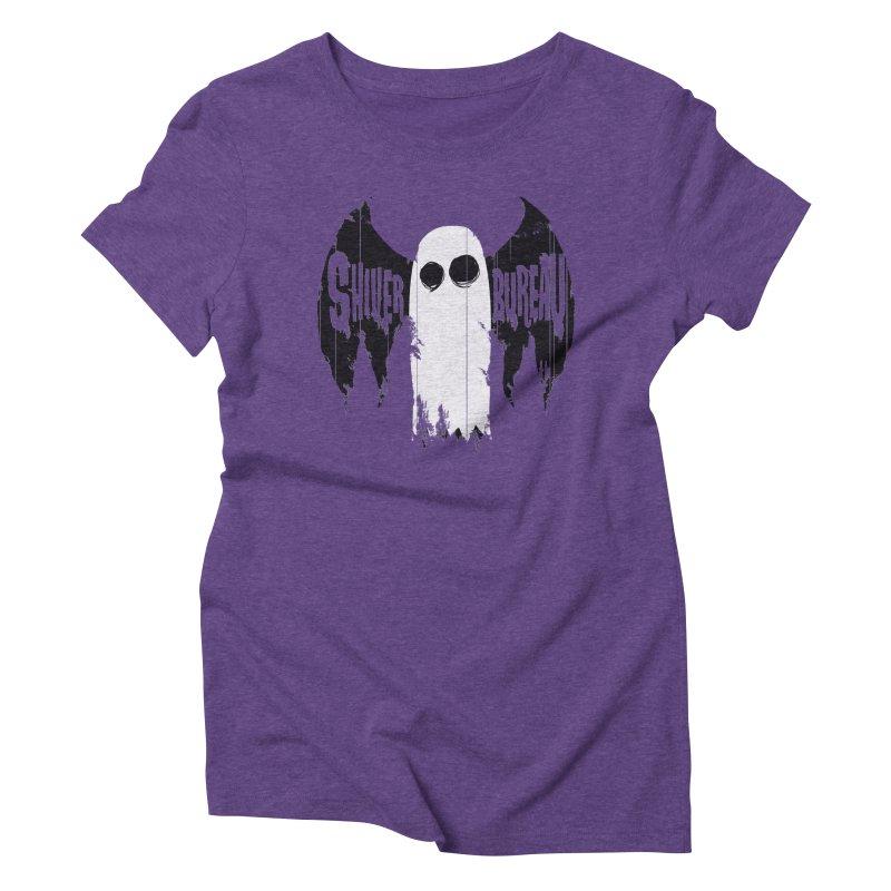 The Evil Ghost Bat Women's Triblend T-Shirt by Walter Ostlie