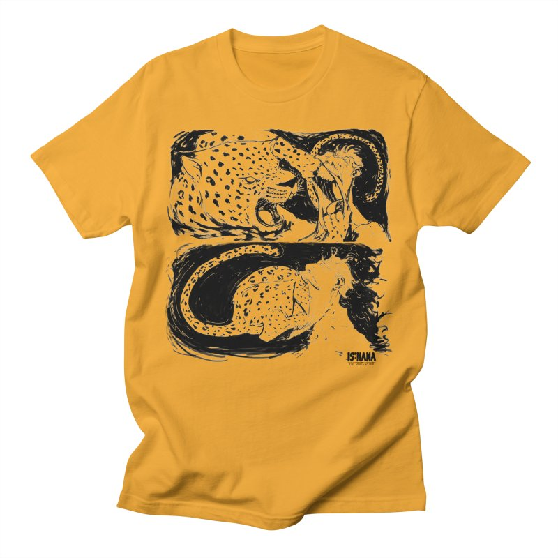 Open Wide in Men's T-shirt Gold by Walter Ostlie