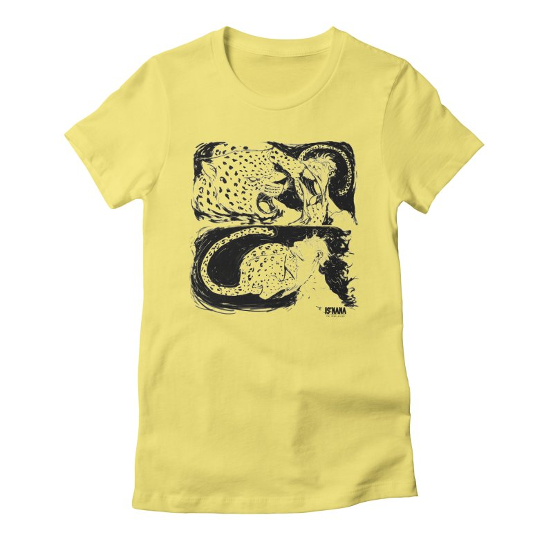 Open Wide Women's Fitted T-Shirt by Walter Ostlie