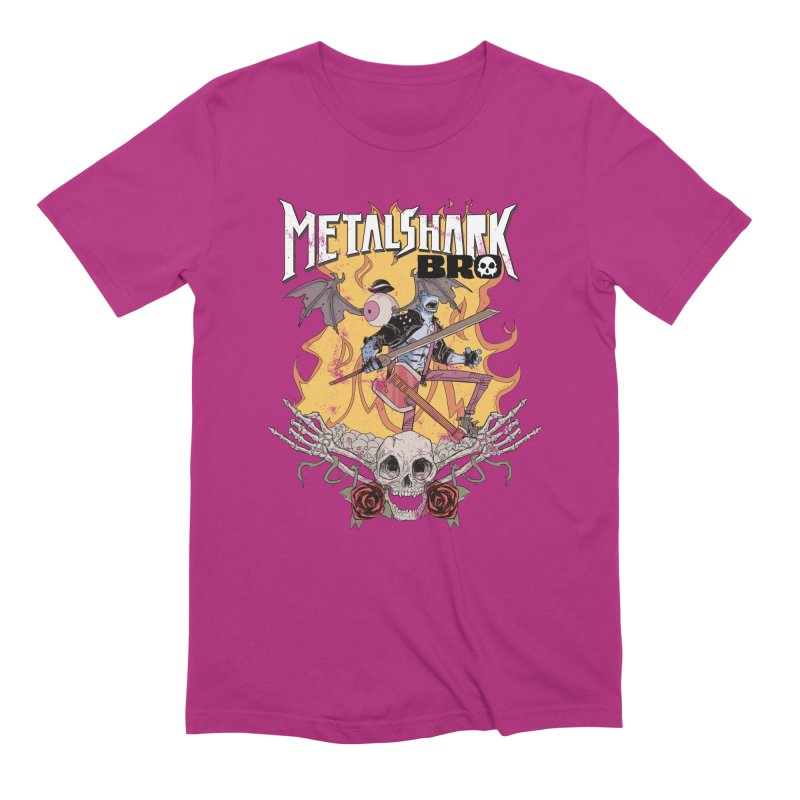 Metalshark Bro Tour Shirt - Distressed Men's T-Shirt by Walter Ostlie