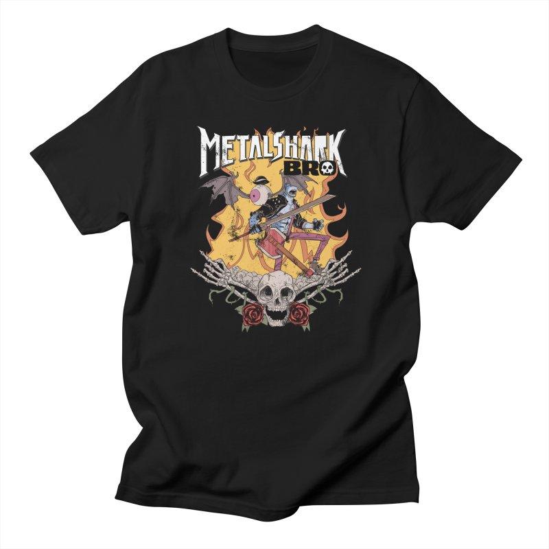 Metalshark Bro Tour Shirt - Distressed Men's Regular T-Shirt by Walter Ostlie