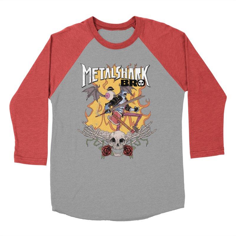 Metalshark Bro Tour Shirt - Distressed Men's Baseball Triblend Longsleeve T-Shirt by Walter Ostlie