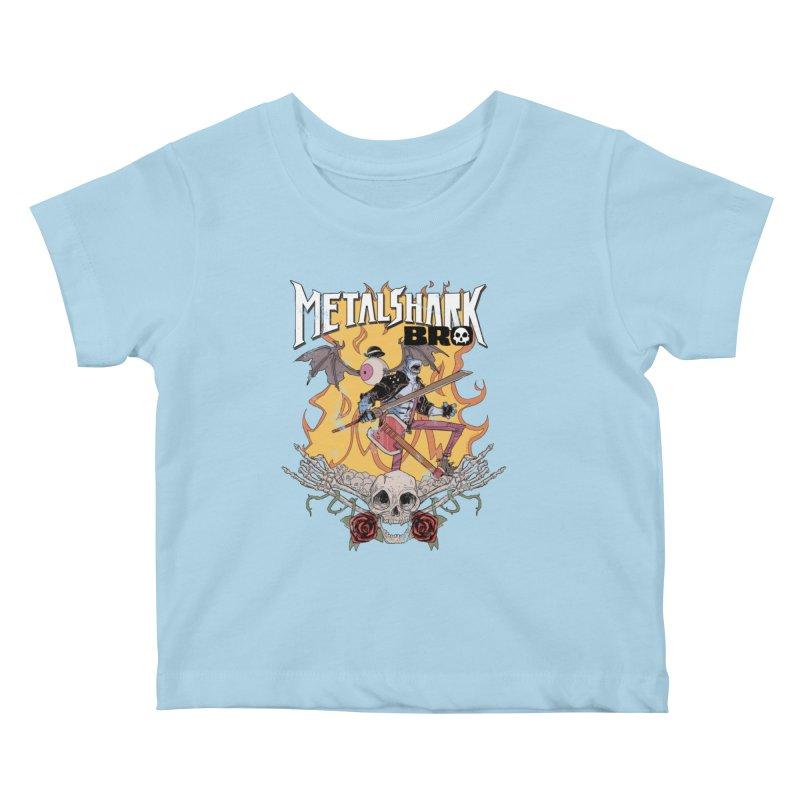Metalshark Bro Tour Shirt - Distressed Kids Baby T-Shirt by Walter Ostlie