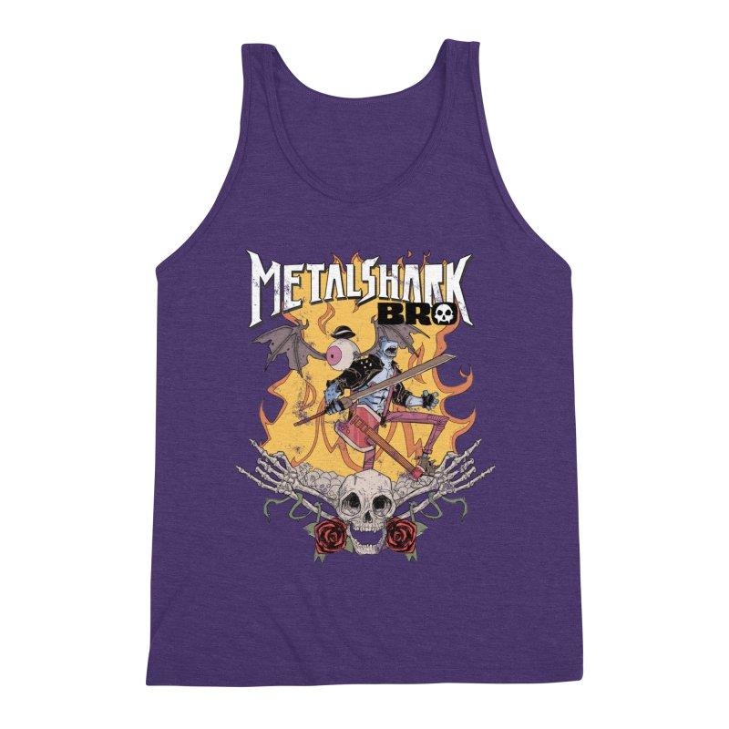 Metalshark Bro Tour Shirt - Distressed Men's Tank by Walter Ostlie