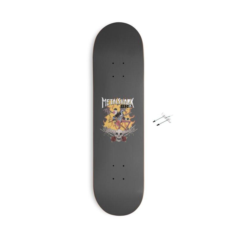 Metalshark Bro Tour Shirt - Distressed Accessories Skateboard by Walter Ostlie