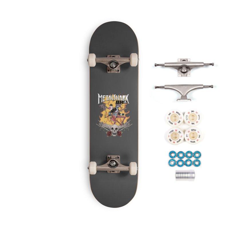 Metalshark Bro Tour Shirt - Distressed Accessories Complete - Premium Skateboard by Walter Ostlie