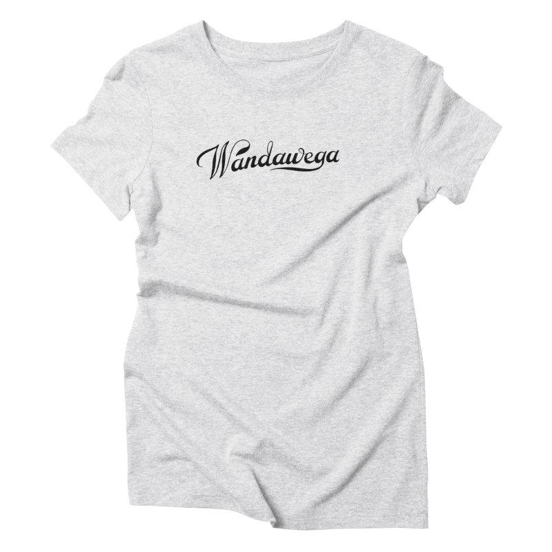 Classic Wandawega Script: Tees Women's Triblend T-Shirt by Wandawega's Shop