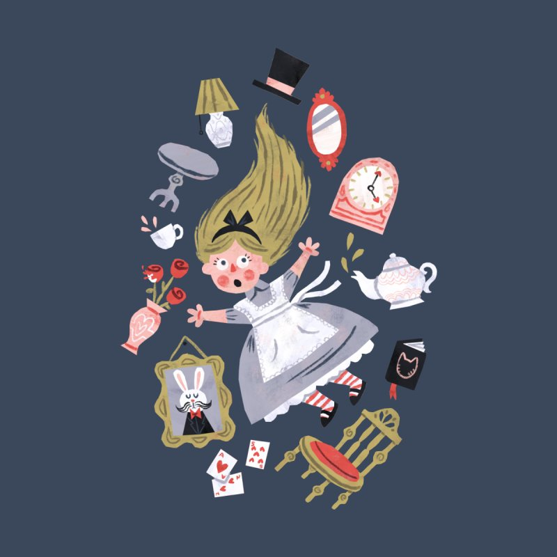 Alice in Wonderland Kids T-Shirt by WanderingBert Shirts and stuff