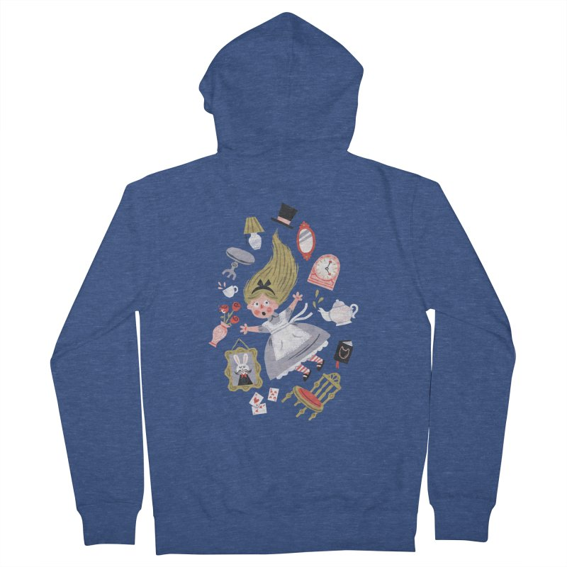 Alice in Wonderland Women's Zip-Up Hoody by WanderingBert Shirts and stuff