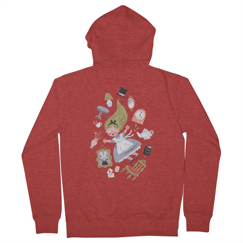 Alice in Wonderland Men's Zip-Up Hoody by WanderingBert Shirts and stuff