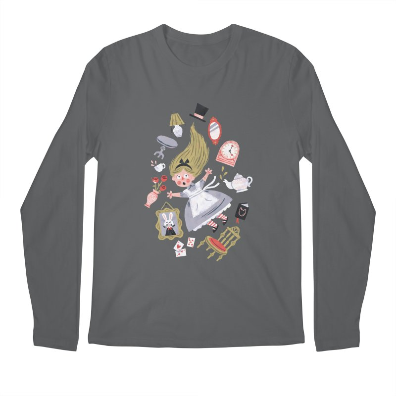 Alice in Wonderland Men's Longsleeve T-Shirt by WanderingBert Shirts and stuff