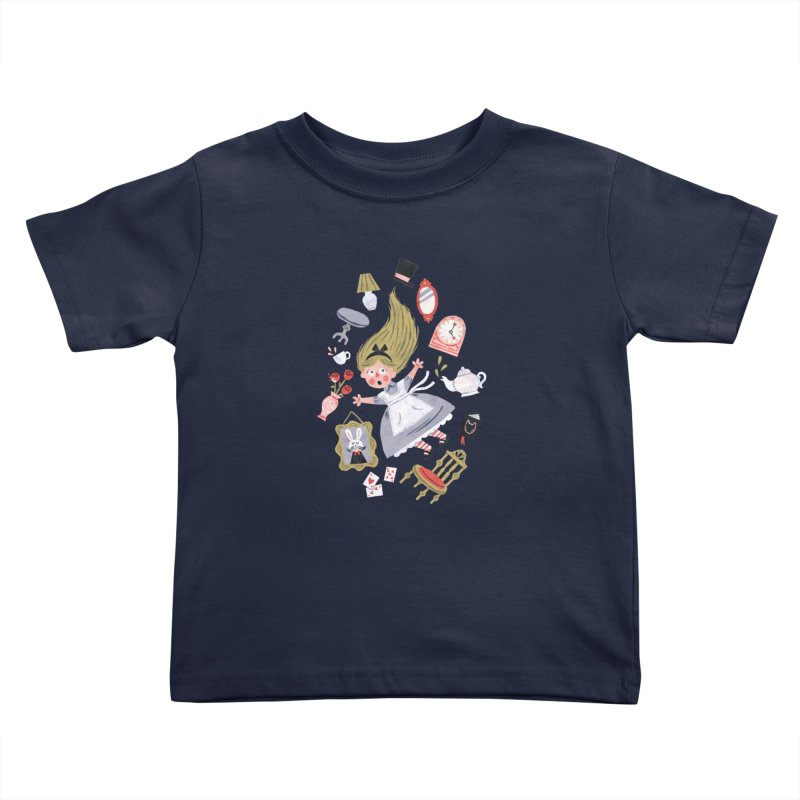 Alice in Wonderland Kids Toddler T-Shirt by WanderingBert Shirts and stuff