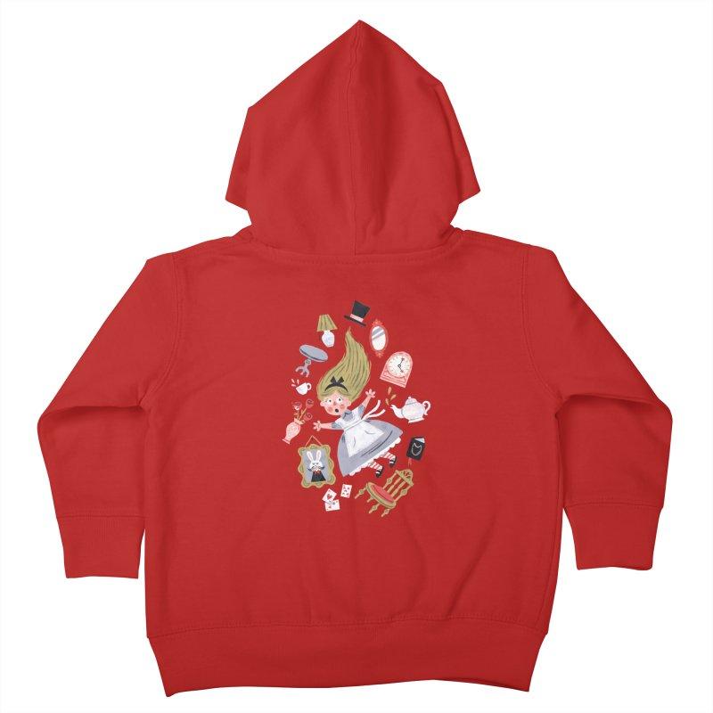 Alice in Wonderland Kids Toddler Zip-Up Hoody by WanderingBert Shirts and stuff