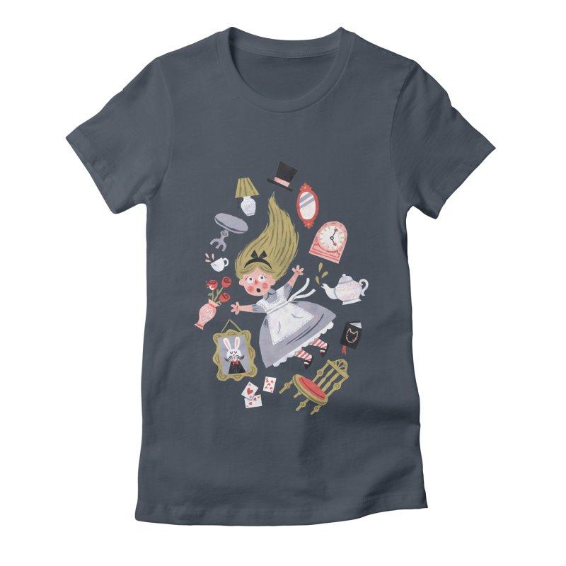 Alice in Wonderland Women's T-Shirt by WanderingBert Shirts and stuff